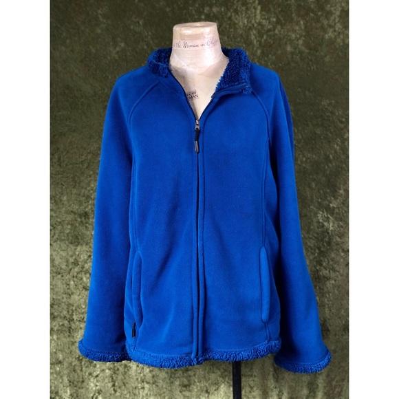 GreenTea Jackets & Blazers - 🍌 GreenTea blue plus faux fur zip up jacket